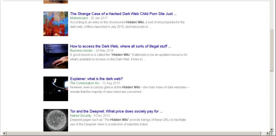 News About The Hidden Wiki