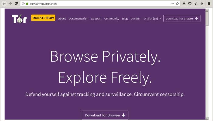 Torproject Hidden Service